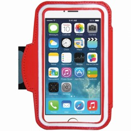 Etui Brassard iphone 5 / 5s / SE / 5C néoprène rouge