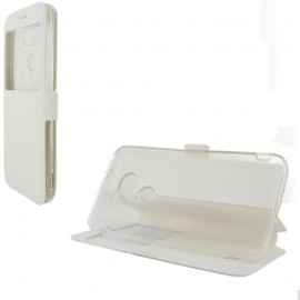 Etui LG G5 folio blanc vision