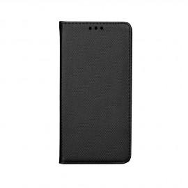 Etui LG K10 folio Noir aspect Gaufré