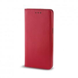 Etui LG K10 folio Rouge aspect Gaufré