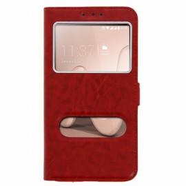 Etui Wiko Lenny 3 Folio vision rouge