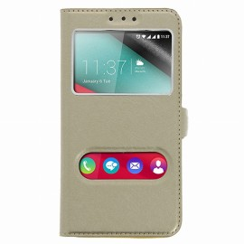 Etui Wiko Tommy Folio vision Or