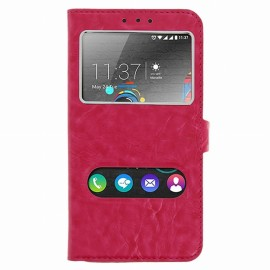 Etui Wiko U FEEL Folio vision rose