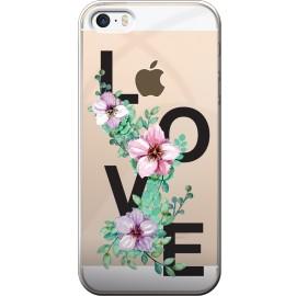 Coque iPhone 5 / 5S / SE rigide transparente love