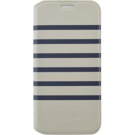 Etui Samsung Galaxy S7 G930 folio Marinière blanche et bleue Jean Paul Gaultier