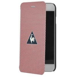 Etui iPhone 6 / 6s Le coq sportif rouge folio Motif triangles