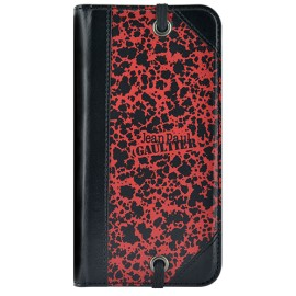 Etui iPhone 6 / 6s folio coque Jean Paul Gaultier carton à dessin rouge