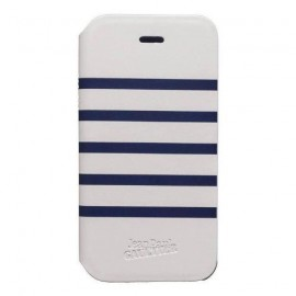 Etui iPhone 5c Marinière Jean Paul Gaultier blanc bleu