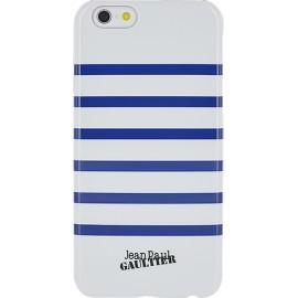 Coque iPhone 6 plus / 6s plus Marinière blanche et bleue Jean Paul Gaultier