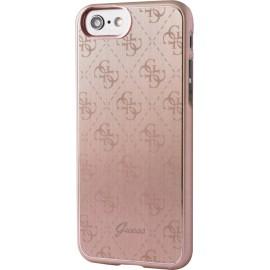 Coque iPhone 7 Guess rose en aluminium