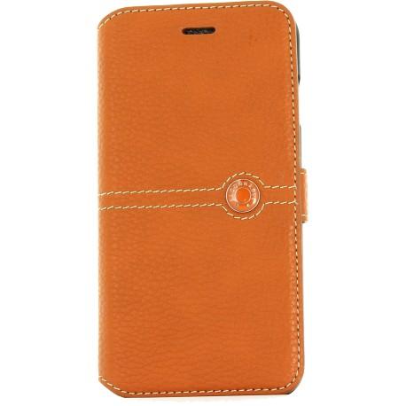 Etui iPhone 7 Plus folio Façonnable orange
