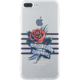 Coque iPhone 7 Plus Jean Paul Gaultier Marinière bleue et impression tatoo