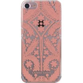 Coque iPhone 7 Paseo métal de Christian Lacroix transparente et rose