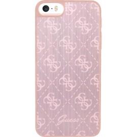 Coque iPhone 5 / 5s / SE Guess rose en aluminium