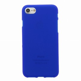 Coque iPhone 7 plus silicone bleu
