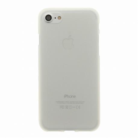 Coque iPhone 7 plus silicone blanc glacé