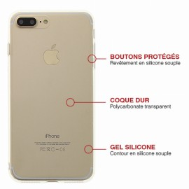 COQUE IPHONE 7 PLUS CRYSTAL ET CONTOUR GEL