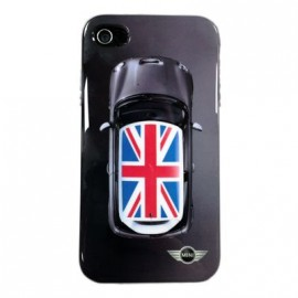 Coque IPhone 4 / 4S Mini Cooper UK Flag Black
