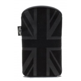 Etui pouch IPhone 4 / 4S Mini drapeau UK noir