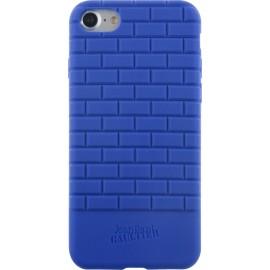 Coque iPhone 7 Jean Paul Gaultier briques de métro semi-rigide bleue
