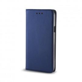 Etui iPhone 7 plus folio bleu aspect gaufré
