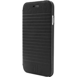 Etui iPhone 6 / 6s Folio Moleskine noir rayé