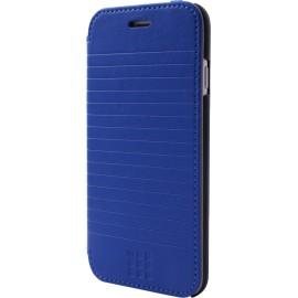 Etui iPhone 6 / 6s Folio Moleskine bleu rayé