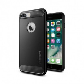 Coque iPhone 7 plus Spigen Rugged Armor noire