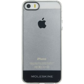 Coque iPhone 5 / 5S / SE Moleskine transparente rigide