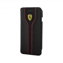 Etui iphone 7 Ferrari Racing aspect carbone noir