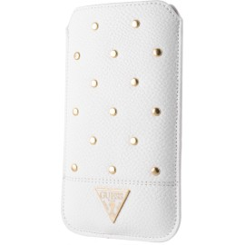 Pouch universel Guess blanc taille XL collection Studded