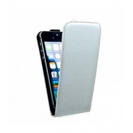 Etui iphone 5 / 5S / SE simili cuir gris