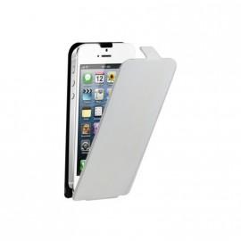 Etui Iphone 5 / 5s / SE slim cuir blanc écru