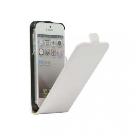 Etui iphone 5 / 5s / SE aspect carbone blanc