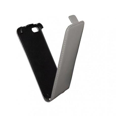 Etui iphone 5 / 5S / SE slim cuir gris