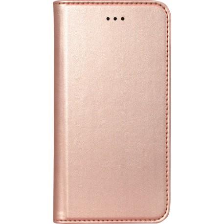 Etui iphone 5 / 5s / SE folio rose métal de Bigben