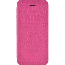 Etui iphone 5 / 5s / SE folio rose croco de Bigben