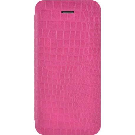 Etui iphone 5 / 5s / SE folio rose croco de Bigben