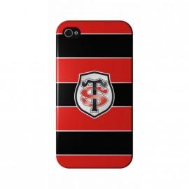 Coque Iphone 5 / 5s / SE Stade Toulousain Noire Rouge