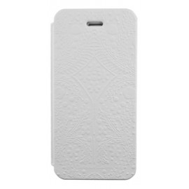 Etui iphone 5 / 5s / SE Folio Paseo de Christian Lacroix blanc
