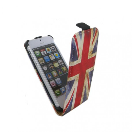 Etui Iphone 5 / 5S / SE drapeau UK vintage
