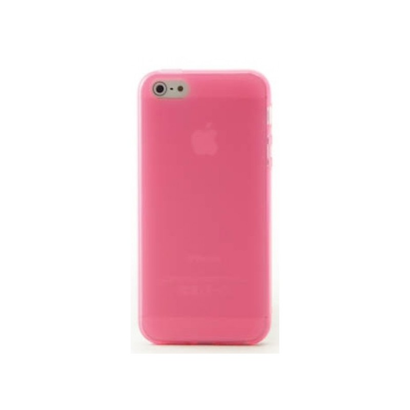 coque iphone 5 5s se silicone rose destination telecom. Black Bedroom Furniture Sets. Home Design Ideas
