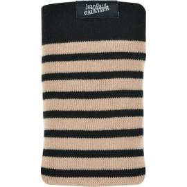 Chaussette Jean Paul Gaultier marinière noir et beige