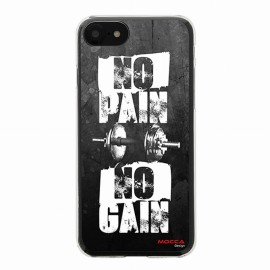 Coque iPhone 7 Crystal No pain no Gain