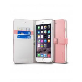Etui iphone 6 plus / 6s plus folio Spigen wallet rose