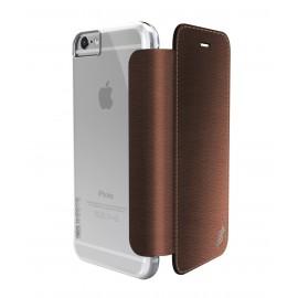Etui iphone 6 plus / 6s plus folio Xdoria marron