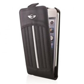 Etui flip iPhone 5 / 5S / SE MINI Slim Sports Seat noir argent