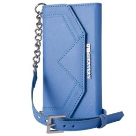Etui iPhone 6 plus / 6s plus Karl Lagerfeld Clutch Classic bleu