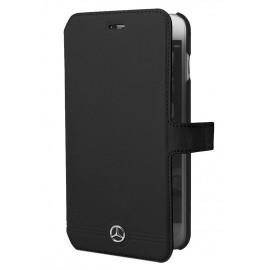 Etui iphone 6 plus / 6s plus Mercedes Folio cuir noir