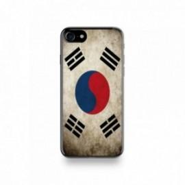 Coque  iPhone 7 Silicone motif Drapeau Corée Du Sud Vintage